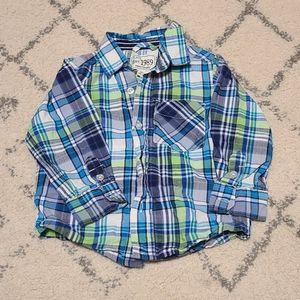 Baby boys long sleeve button shirt